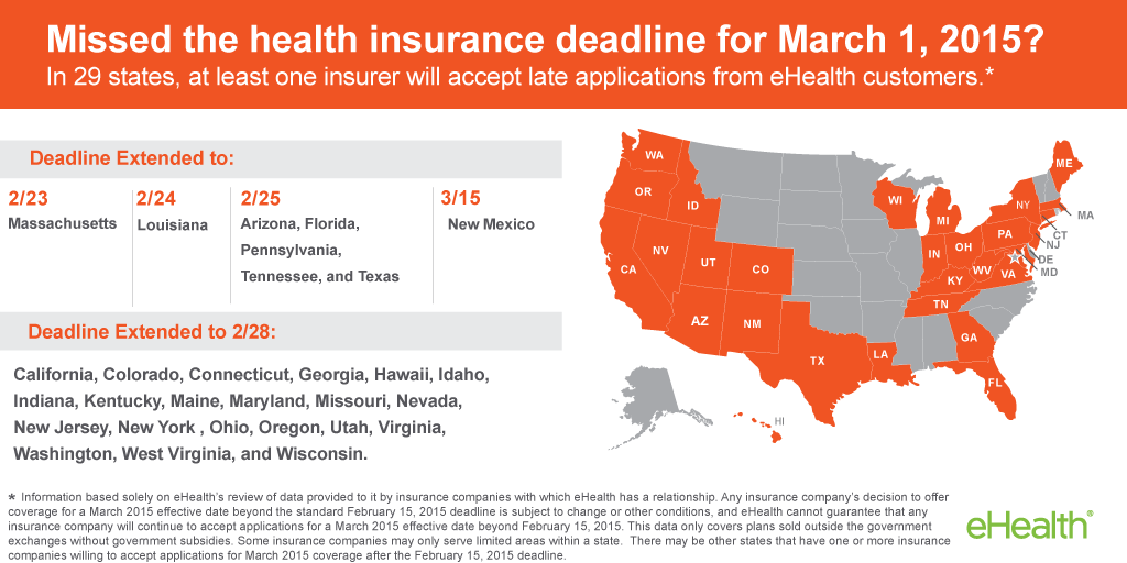 Missed The 2 15 Deadline Map 29 States